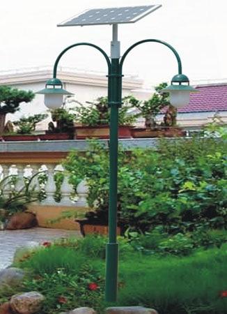 Double 5W LED Solar Garden Light
