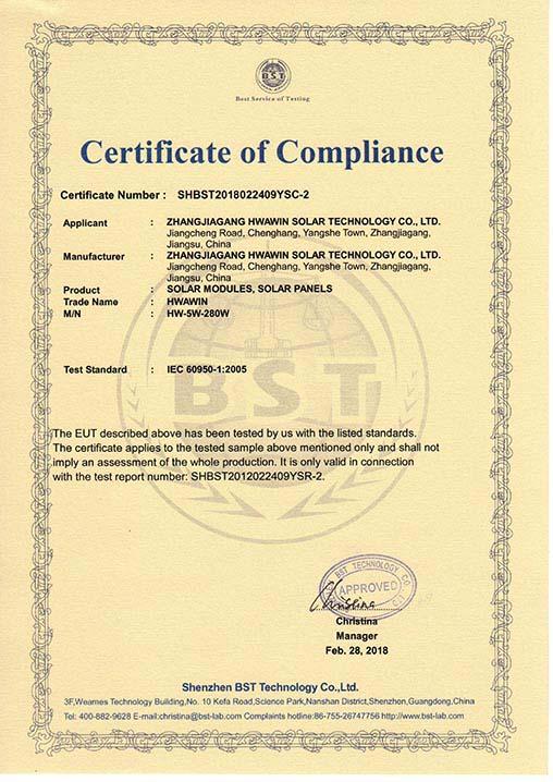 IEC Certification of Solar Panels Solar Modules